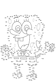 dot to dot printables spongebob medium level activity shelter