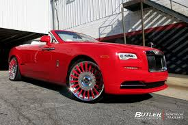 roll royce red rolls royce dawn with 24in forgiato calibro wheels exclusively