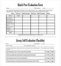 sample group activity evaluation template 6 free documents