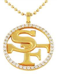 custom necklace pendant yellow gold custom san francisco 49ers diamond pendant necklace