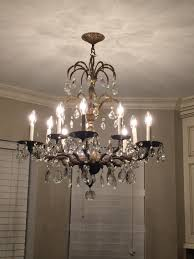 antique chandelier taken from in laws house kitchen remodel
