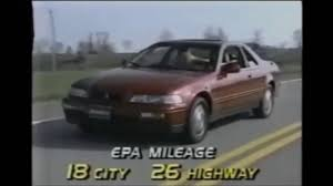 1991 acura legend coupe ka8 road test youtube