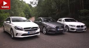 audi a3 vs bmw 3 series mercedes a class vs bmw 1 series vs audi a3 in battle of the