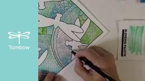 zentangle coloring u0026 blending free coloring
