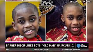 barber offers u0027old man u0027 haircuts for misbehaving kids youtube