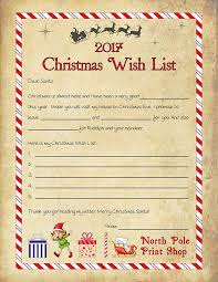 christmas wish list written by santa free christmas wish list template
