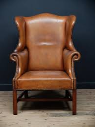 Leather Wingback Chair Leather Wing Back Chair Modern Chairs Quality Interior 2017