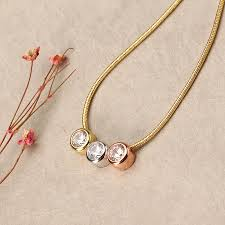 gold plated simple necklace images Jassy women jewelry set 3 color simple gemstone 18k gold plated jpeg