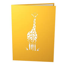 giraffes pop up new baby card lovepop