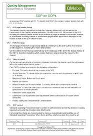 sop on sops u2013 standard operating procedures