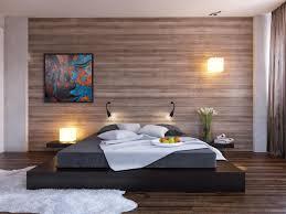 new minimalist bedroom design ideas black platform bed wood clad