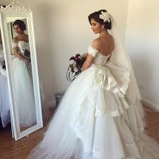 Mature Bride Wedding Dresses 2017 Ball Gown Wedding Dresses With Detachable Off Shoulder