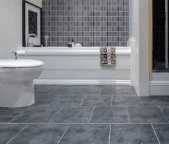 grey wall mosaic tile bathroom floor with grey modern ceramics