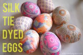 Decorating Easter Eggs With Silk by Diy Silk Tie Dyed Easter Eggs U2013 The Cheerful Space