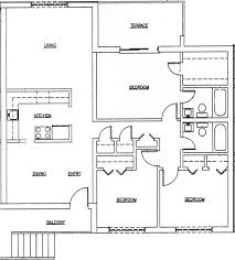 perfect floor plan one floor contemporary 4 room house plans home decor waplag