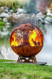 fire pit gallery autumn sunset leaf fire pit sphere the gallery edited firpit