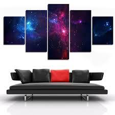 aliexpress com buy 5 piece set canvas art painting galaxy planet