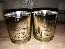 christmas tea light candle holders christmas tea light candle holders set of 2 in balsall common