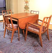 Mid Century Modern Dining Room Table Mid Century Modern Dining Table And Chairs By Mount Airy Chair Co