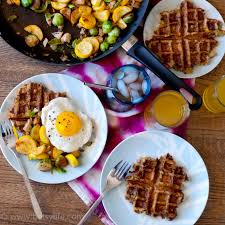 leftover waffles and turkey vegetable hash