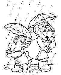 barney coloring pages pj baby bop coloring book pages