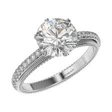 setting diamond rings images Vintage style engagement rings 6 prong setting jpg