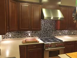 Stainless Steel Tiles For Kitchen Backsplash Black And Silver River Rock Pattern Mosaic Stainless Steel Tile