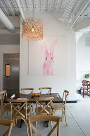 citizen eatery celebrates plant based dining and modern design view in gallery pink bunny painting by kendall rabon