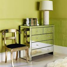 Cheap Decorating Ideas For Bedroom Nightstand Attractive Mirrored Nightstand Cheap With Green Wall