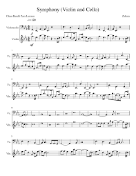 Violin Cover Sheet Music by Clean Bandit Symphony Violin And Cello Musescore
