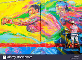 Mural Artist by Miami Florida Wynwood Art District Art Basel Muralist Mural