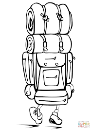camping backpack coloring page free printable coloring pages