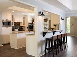 Stylish Inspiration Half Wall Kitchen Designs Houzz On Home Design