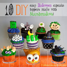 Halloween Cupcakes Cakes by Diy 10 Ways To Use Marshmallows To Make Halloween Cupcake Toppers
