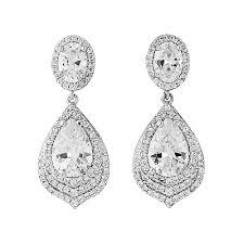 drop bridal earrings vintage gatsby chandelier drop bridal earrings dangling
