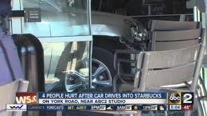 lexus at towson car crashes into towson starbucks 4 hurt youtube