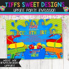 Backyard Birthday Party Invitations by Backyard Water Party Invitation Water War By Tiffssweetdesigns