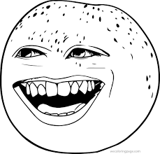 laugh the annoying orange coloring page wecoloringpage