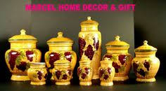 wine kitchen canisters 3 pc 3d grape canisters for kitchen kitchen remodel pinterest