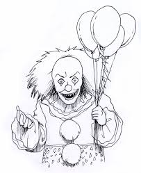 scary clown coloring pages festival collections face free