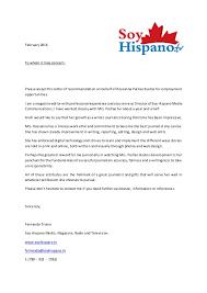 recommendation letter soy hispano magazine