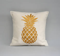 pineapple pillow cover gold pillow pineapple cushion throw