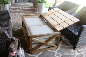 Outdoor Storage Coffee Table Diy Outdoor Coffee Table With Storage Wonderful