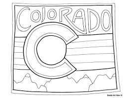 colorado coloring page by doodle art alley usa coloring pages