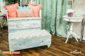 Upcycle Ottoman How To Upcycle An Dresser Into A Chair And Ottoman