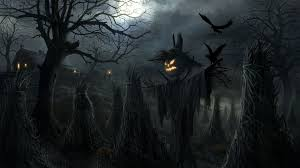 halloween themed backgrounds scarecrow wallpaper wallpapers browse