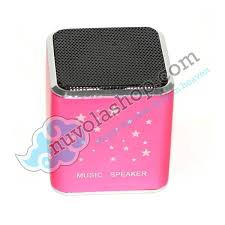 pink micro tf mp3 music player mini speaker for laptop cute