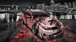 subaru hatchback wallpaper subaru impreza wrx sti jdm tuning anime aerography car 2014 el tony