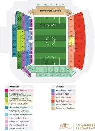 stadium seating map los angeles football club