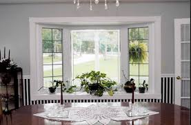 Interior Window Trim Styles Inspiration Kitchen Cool Grey Painting Wall Bay Window Blinds As